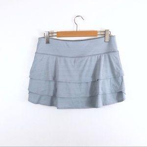 Athleta Gray Layered Shorts Mini Skirt Stretch